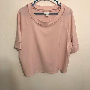 Blush colored crop top